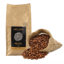 Káva Simple Coffee Espresso Blend Brazil a India 80% Arabica a 20% Robusta 1000g