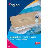 Etikety polyesterové priehľadné 210x297mm Agipa A4 laser 100 hárkov 8c3ab503784
