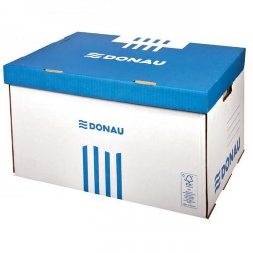 c99440068 Archívna škatuľa so sklápacím vekom DONAU modrá