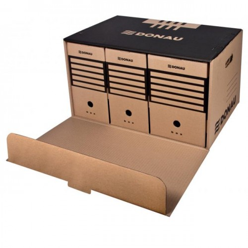 efdbc2286 Archívna škatuľa s predným otváraním DONAU hnedá