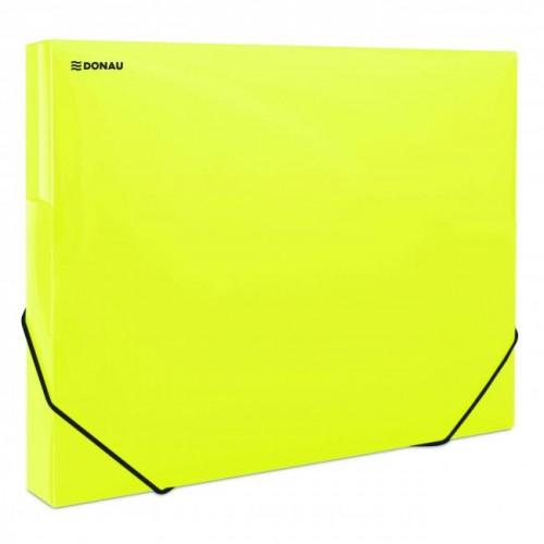 5d6294bd45f84 Plastový box s gumičkou DONAU priehľadný žltý