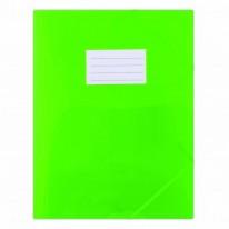 1c47e28c7a1ac Plastový obal s gumičkou DONAU polopriehľadný zelený