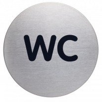 Piktogram WC text