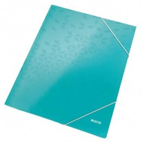 Kartónový obal lesklý s gumičkou Leitz WOW perleťovo biely 95a72ccac3e
