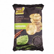 Ryžové chipsy, 60 g, RICE UP, wasabi