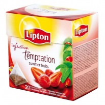 Čaj Lipton ovocný Infusion Fruit Temptation Red pyramídy 40g