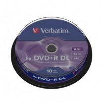 Verbatim DVD+R 8x DL 8,5GB cake 10 ks