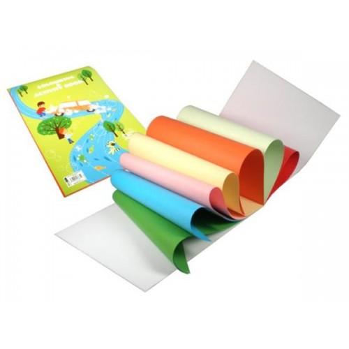 Farebny Papier A4 20 Listovy 7 Farieb Mix